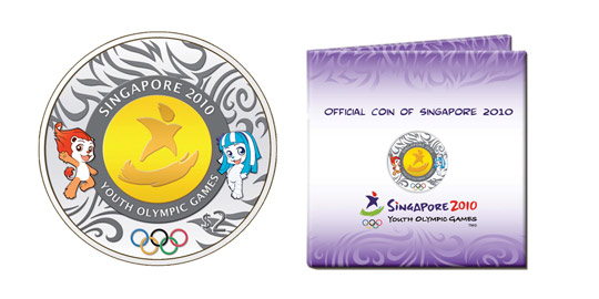 Singapore 2010 Youth Olympic Games Commemorative Coin Issue