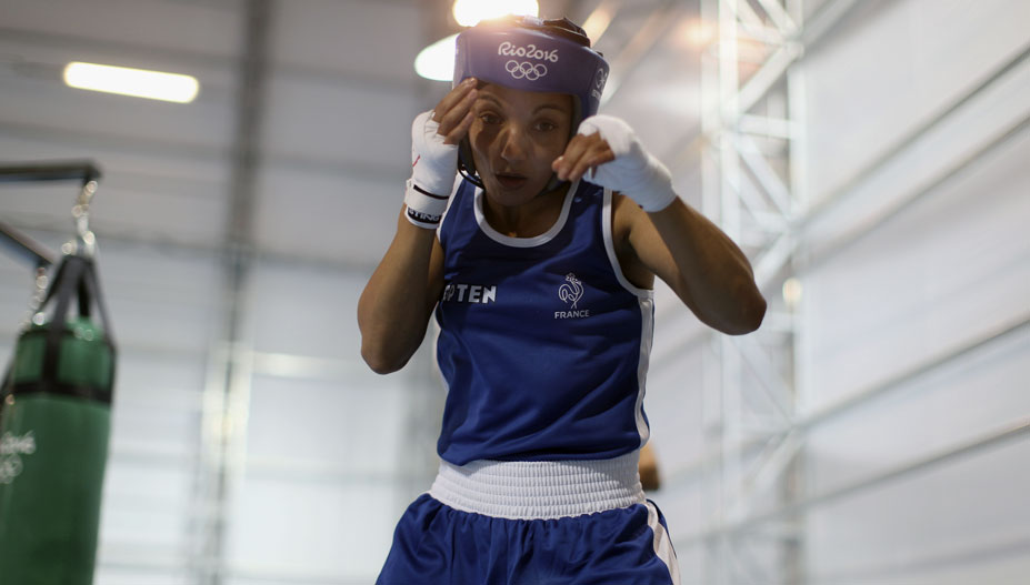 Boxer Sarah Ourahmoune in 2016 at the Games in Rio