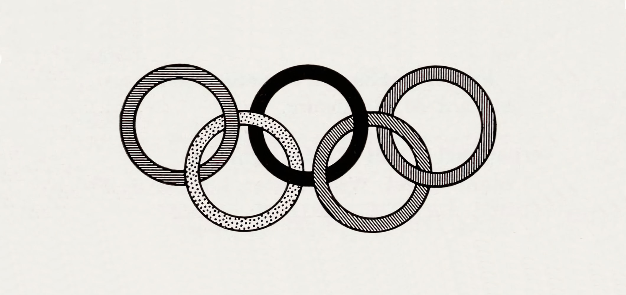 The Olympic Rings - 1957