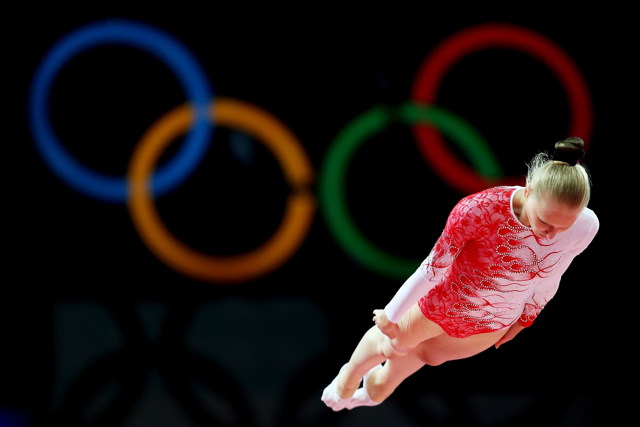 Luba Golovina of Georgia competes in the Trampoline at London 2012