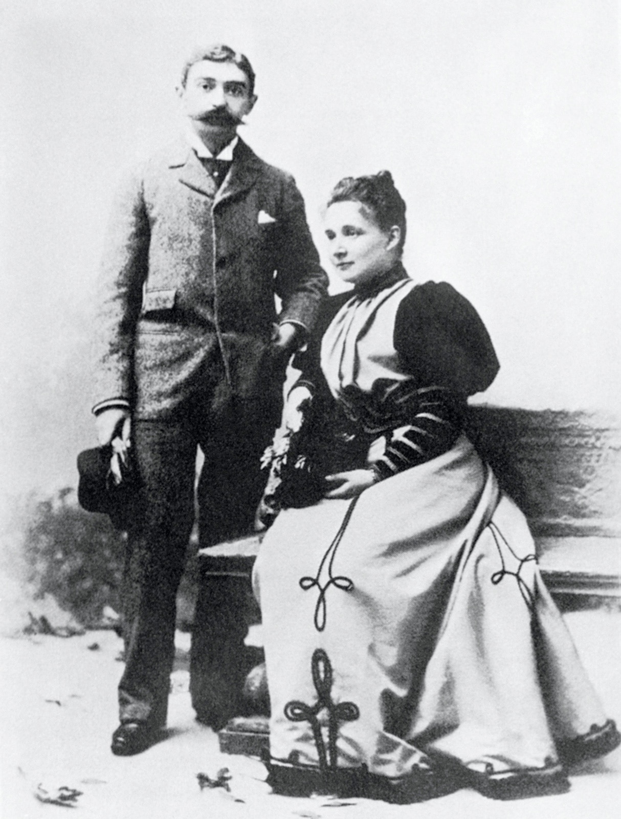 Baron Pierre de COUBERTIN and Marie ROTHAN on their wedding day.
