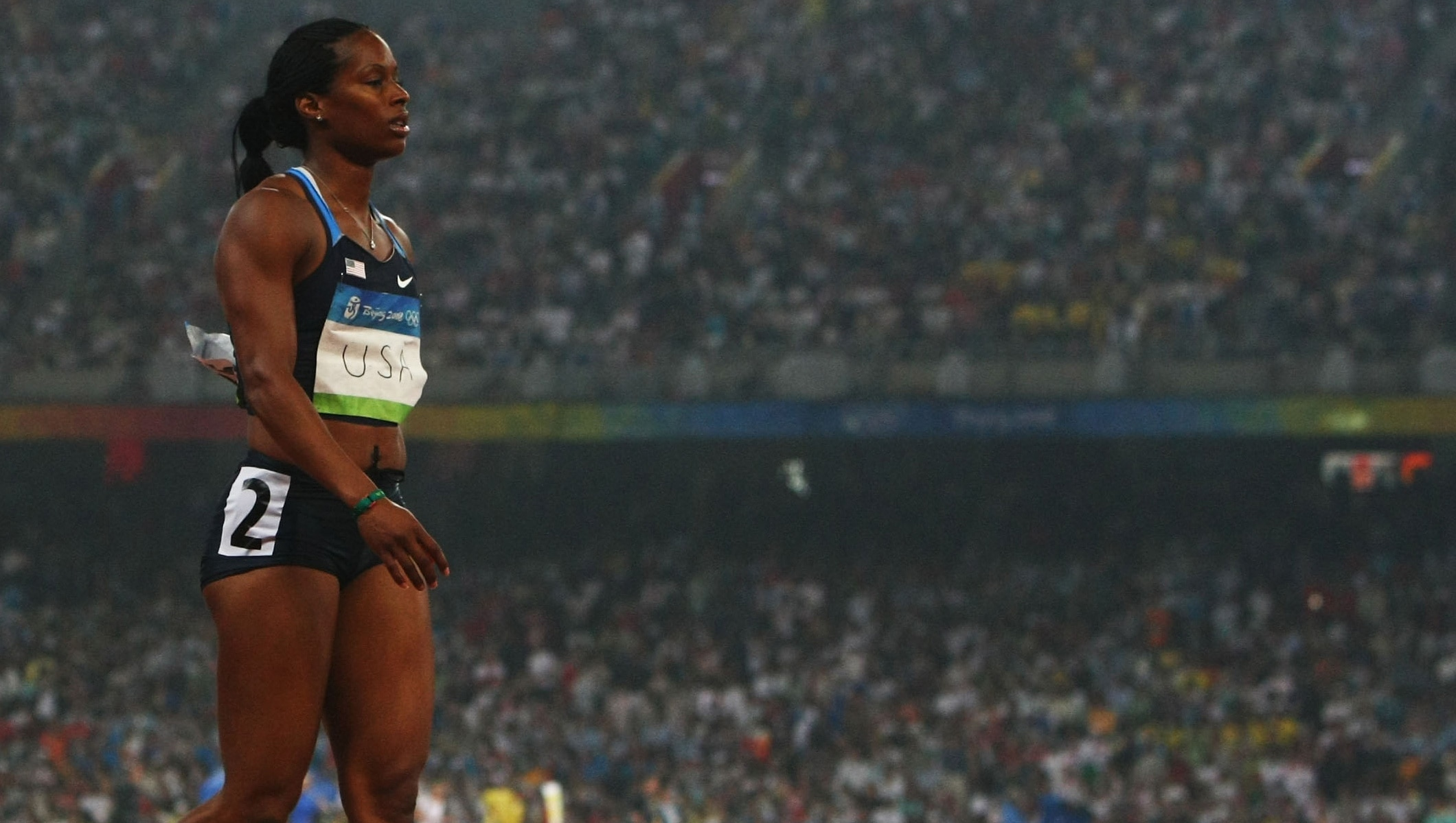 Mechelle Lewis of the United States at Beijing 2008