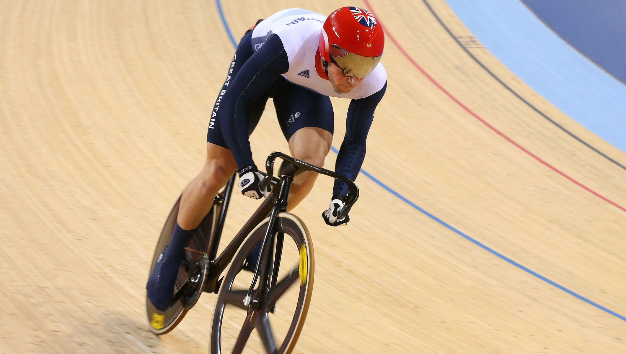 Jason Kenny competes at the London 2012 Olympic Games, Men's Sprint Track Cycling Competition