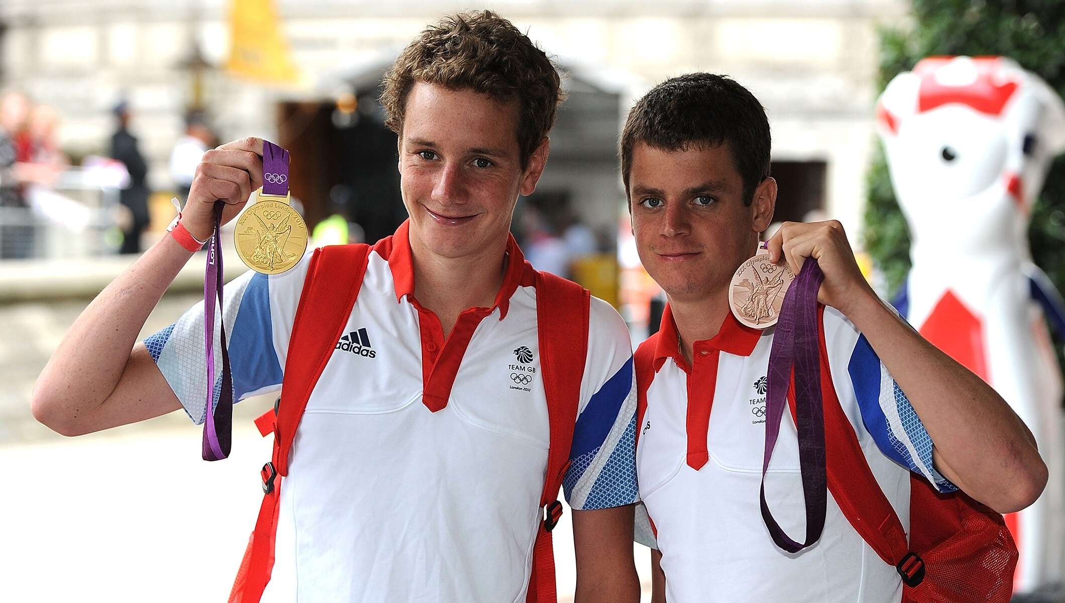 Alistair and Jonathan Brownlee, London 2012