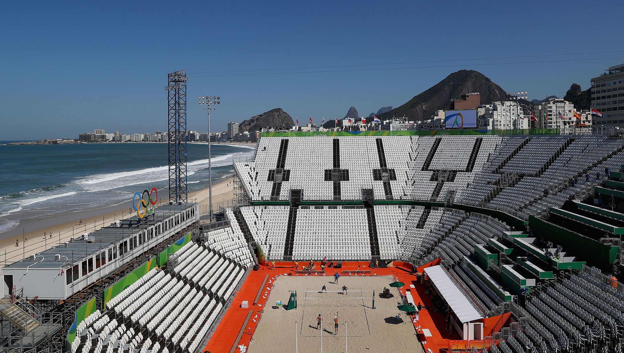 Volleyball comes home to Copacabana