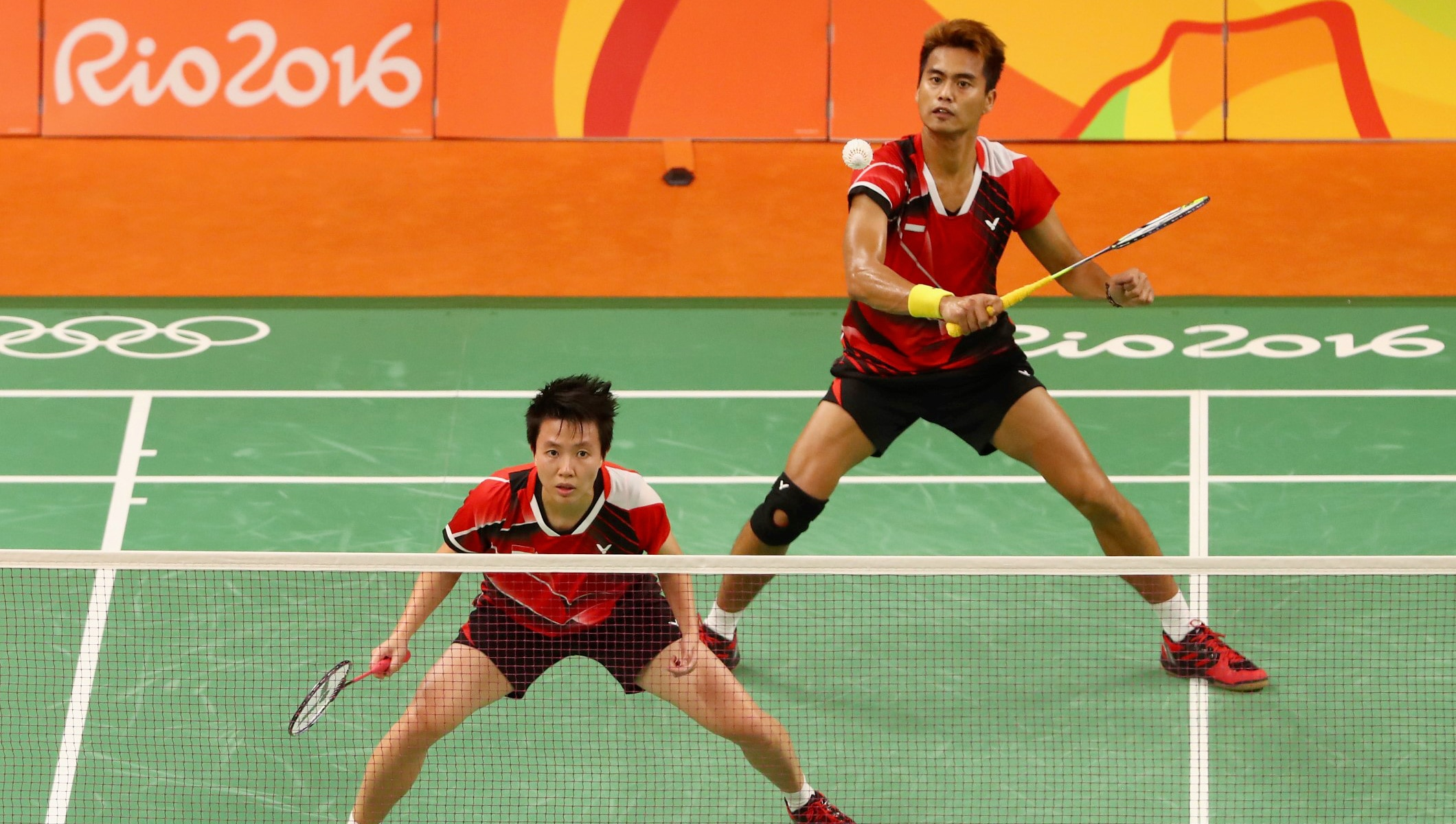 Image result for Doubles in badminton