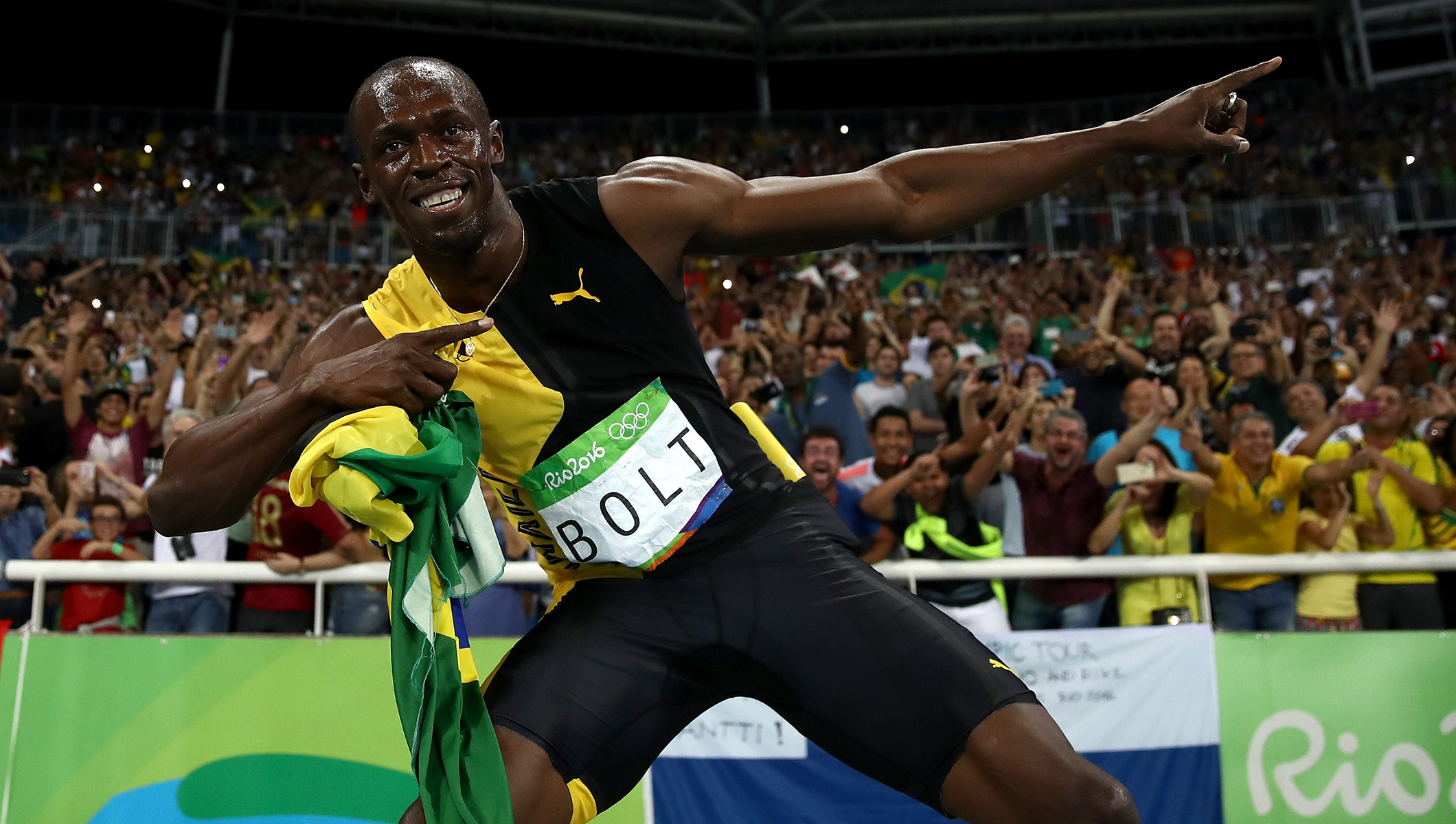 Unbeatable Bolt signs off with third Rio Gold