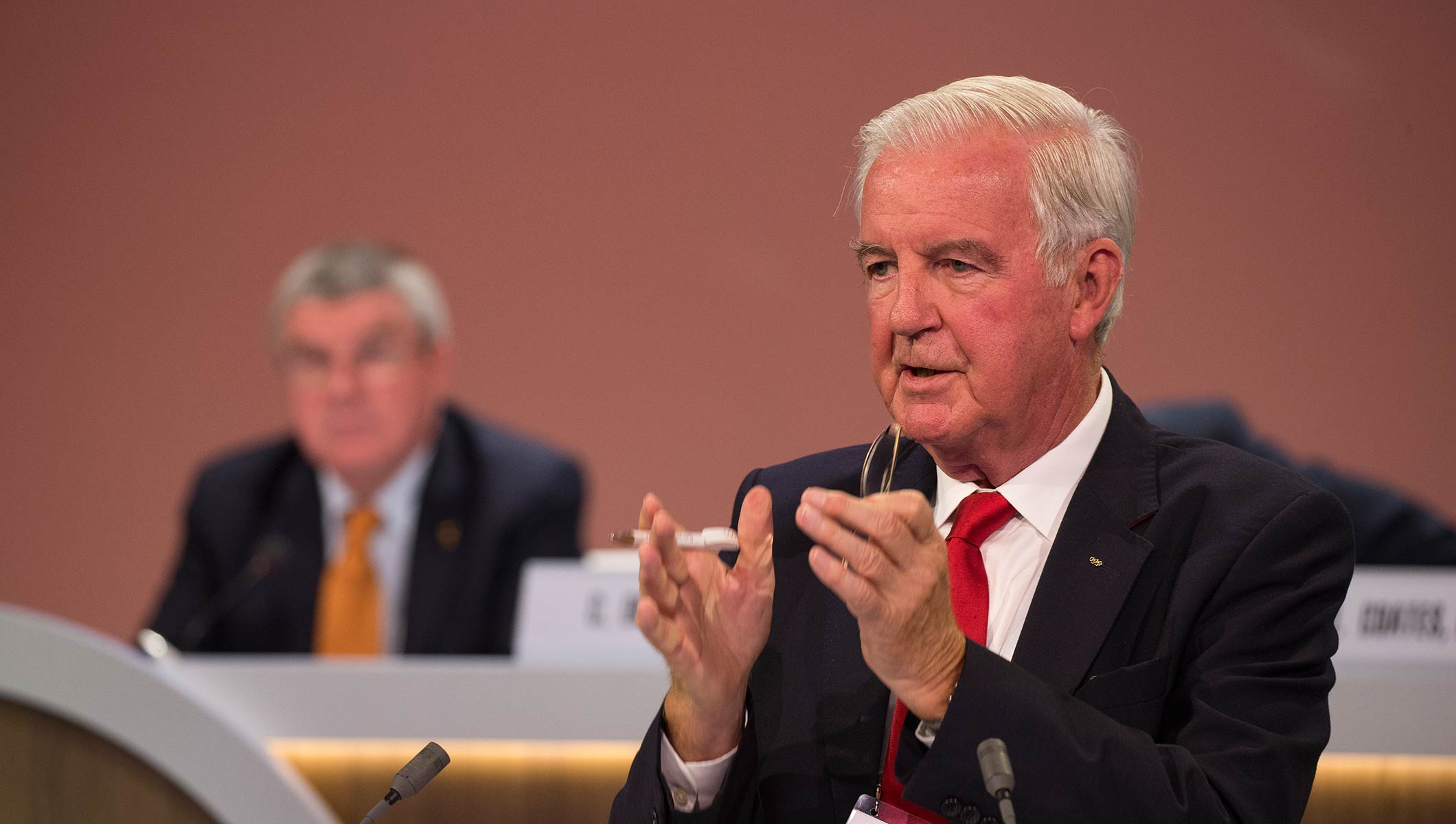 IOC Session Lima, Sir Craig Reedie, President of the World Anti-Doping Agency (WADA), Sir Craig Reedie
