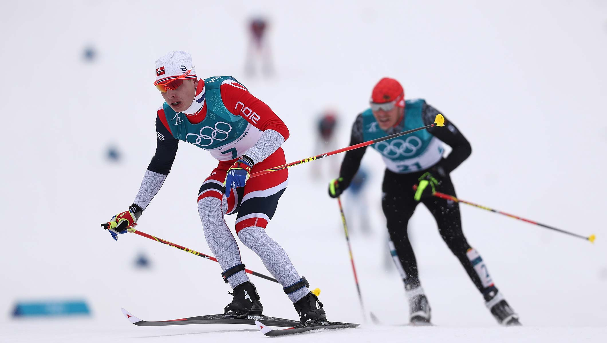 Cross Country Skiing At The 2020 Olympic Winter Games.Krueger Recovers From Fall To Lead Norway Skiathlon Sweep