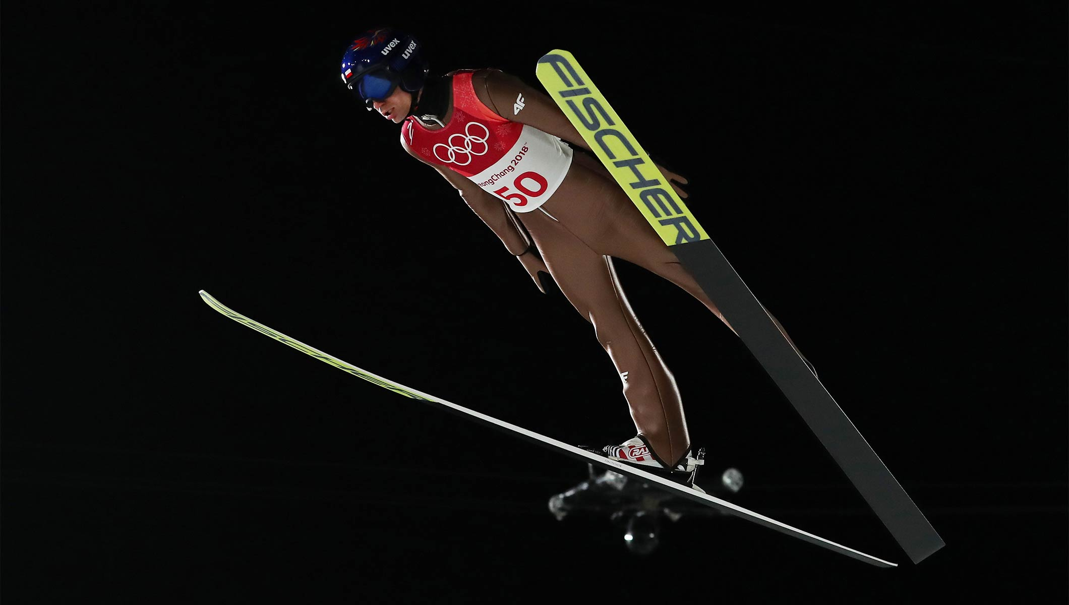 Stoch Turns On The Style To Defend Men S Large Hill Ski