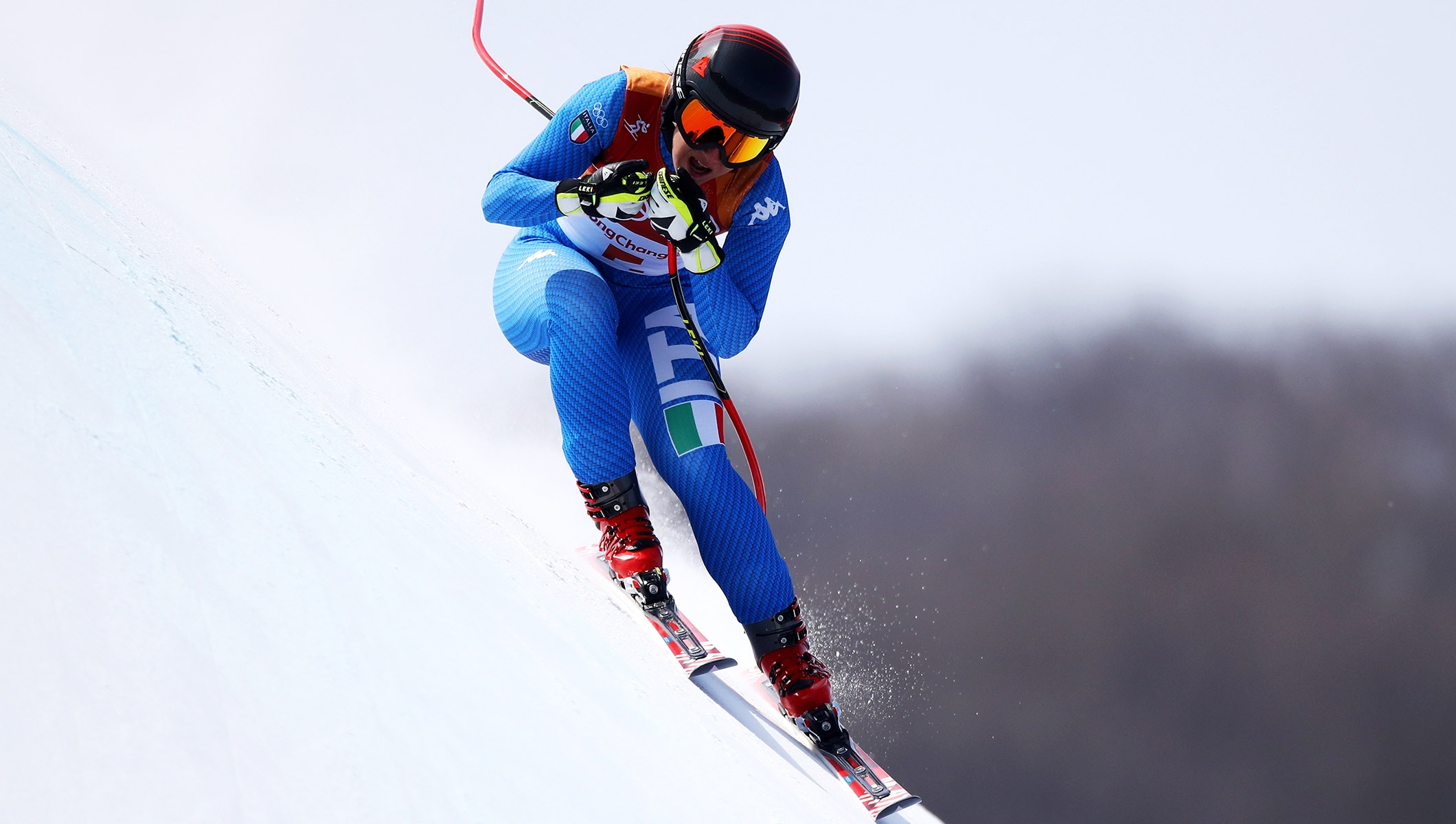 Alpine skiing downhill