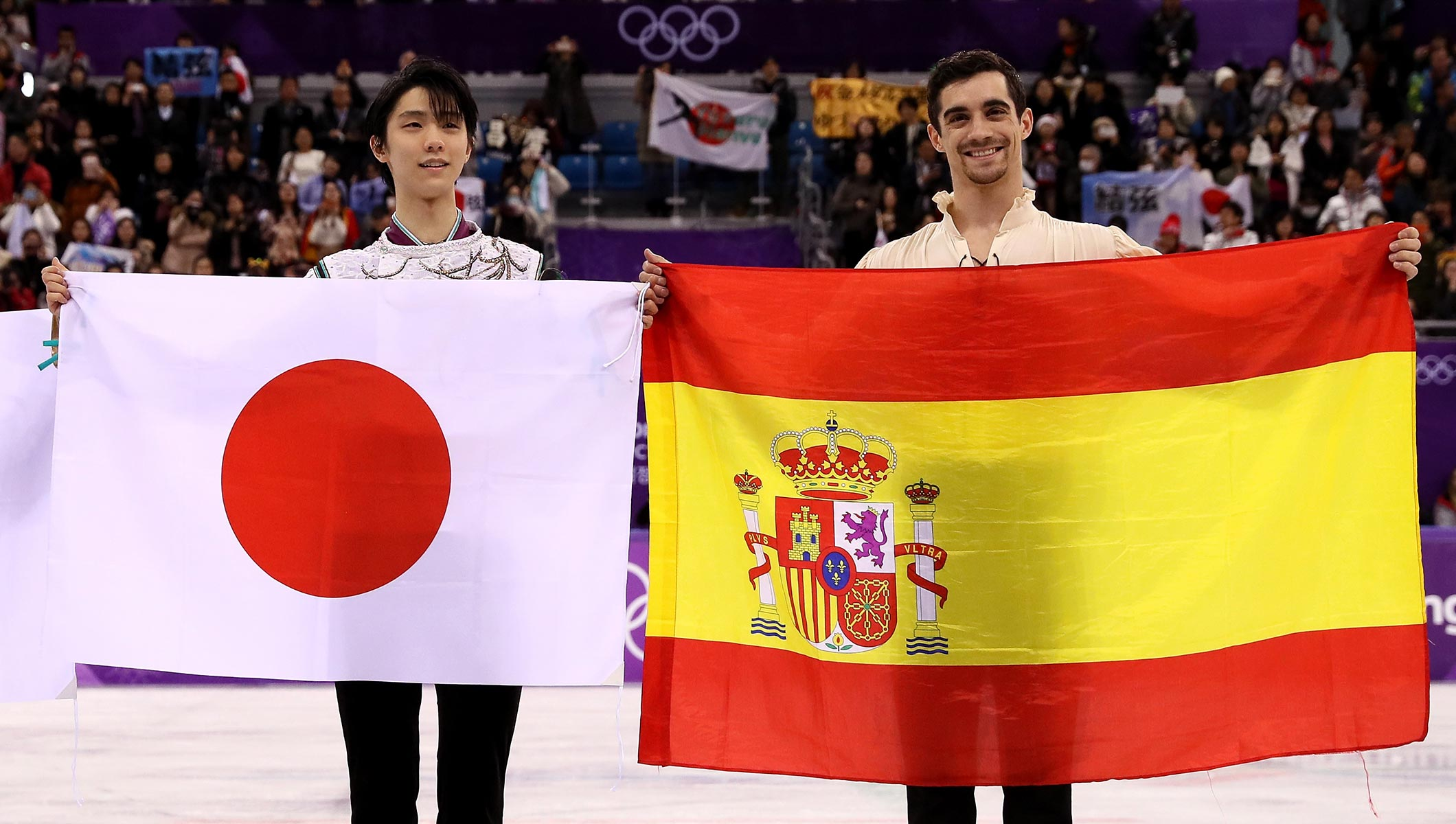 Figure skating stars Hanyu and Fernández share a very