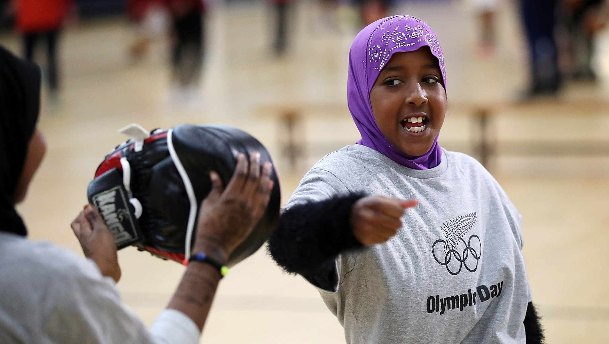 Refugees get active and embrace unique school sports day
