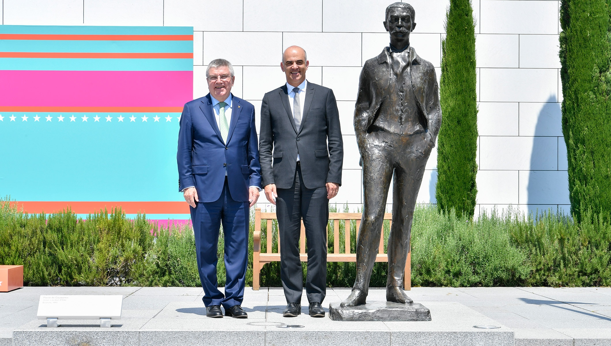 IOC President Thomas Bach and the President of the Swiss Confederation, Alain Berset
