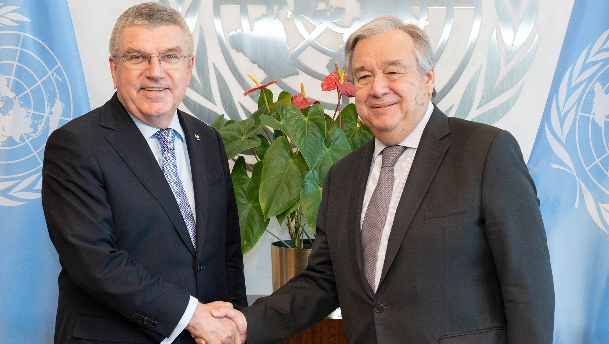 IOC President meets with UN Secretary General and presents new IOC Permanent Observer