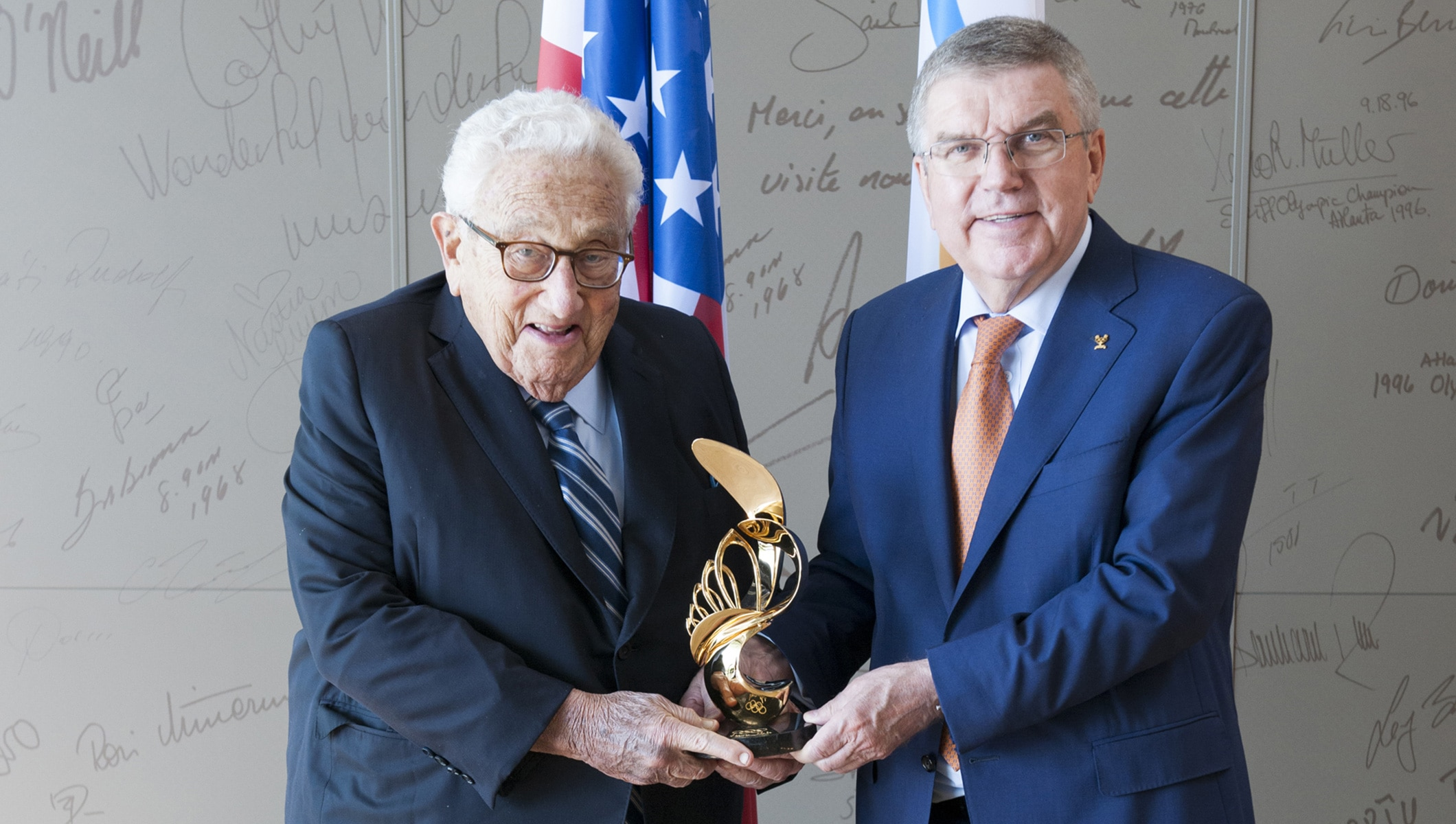 Meeting with Henry Kissinger and Thomas Bach, International Olympic Committee President