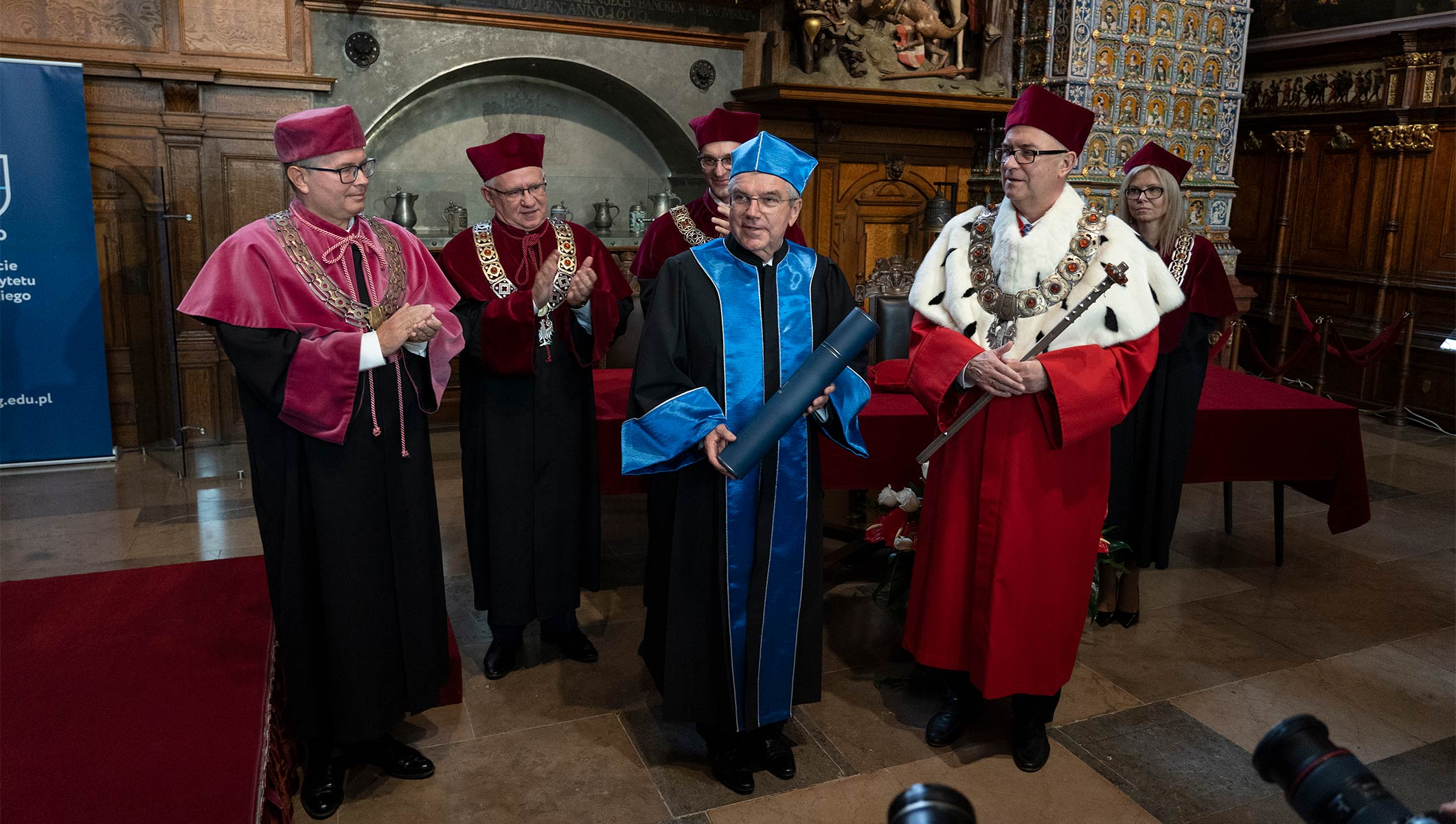 President Bach awarded honorary doctorate at the University of Gdansk