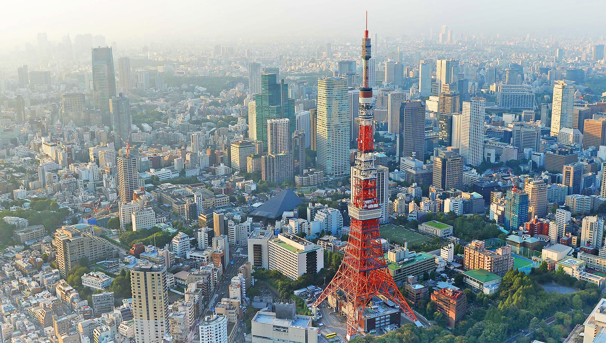 Tokyo aerial view - Tokyo tower