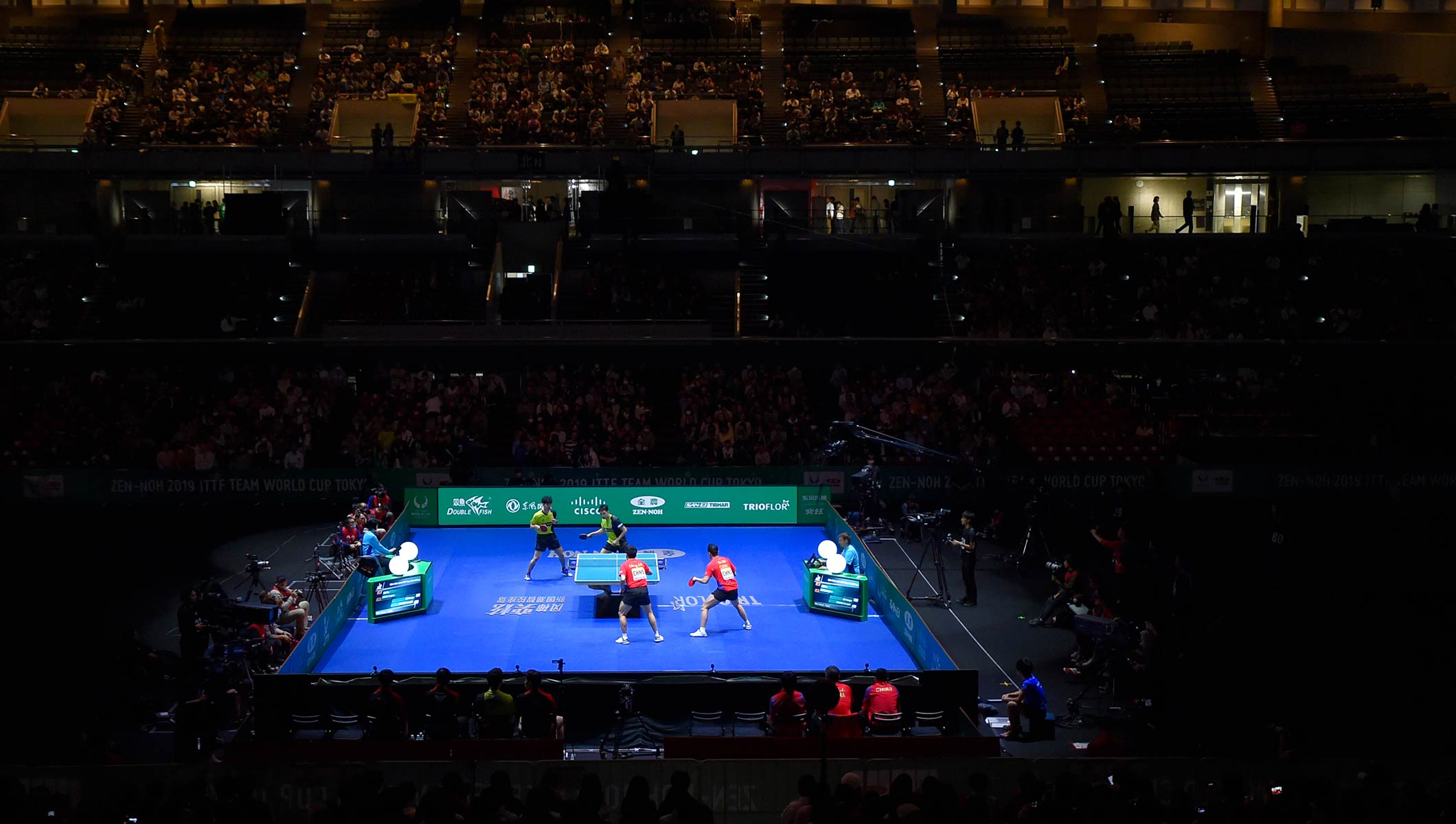 Table Tennis test event at The Tokyo Metropolitan Gymnasium