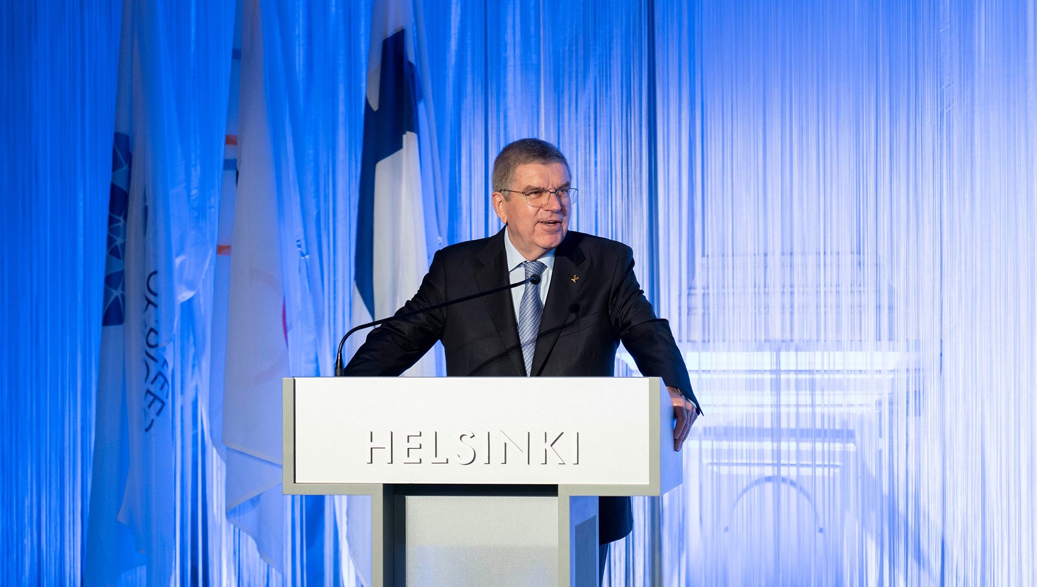 IOC President Thomas Bach at The New Leaders Forum held in Helsinki