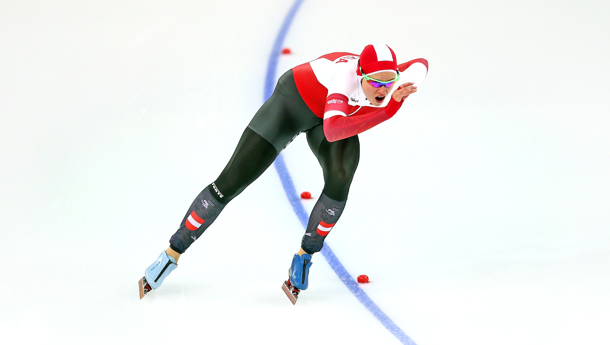 Short Track Speed Skating At The 2020 Olympic Winter Games.Vanessa Herzog World Champion Speed Skater And Yog Athlete