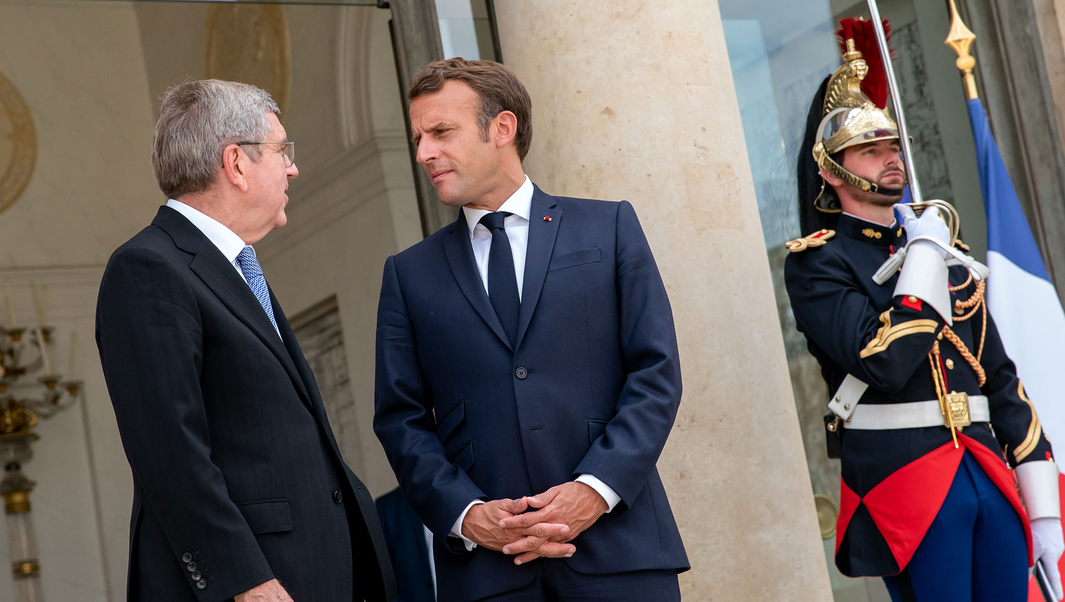 President Thomas Bach Received By President Emmanuel Macron In Paris Olympic News