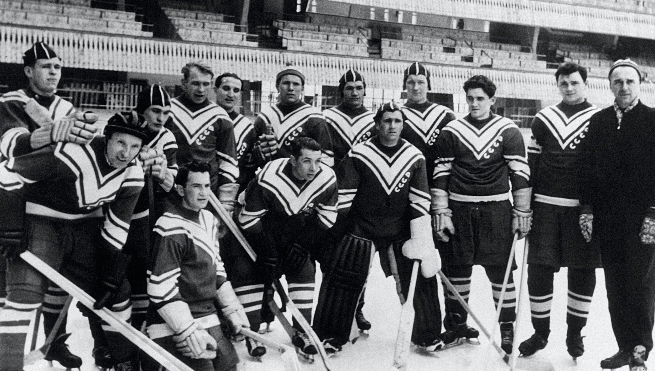 URSS Team in the Olympic Ice Stadium