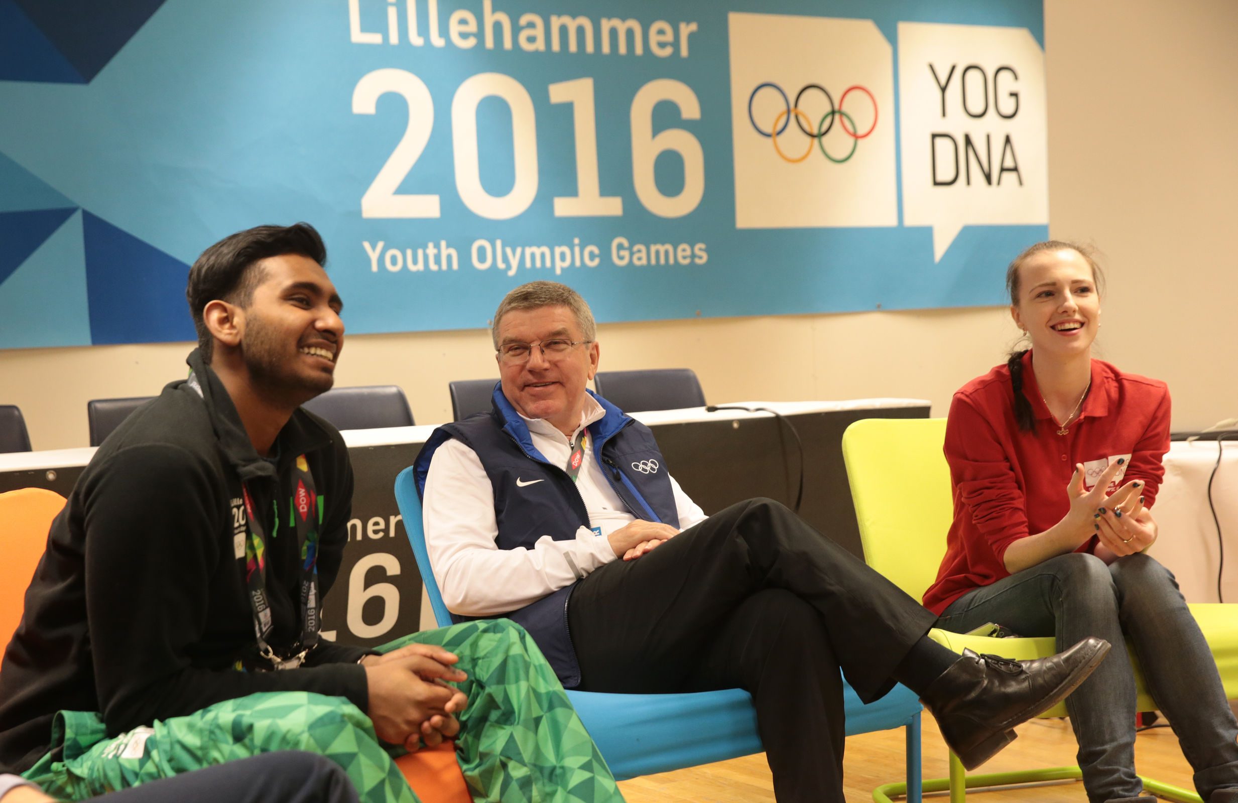 IOC President Thomas Bach during a Youth Empowerment Session
