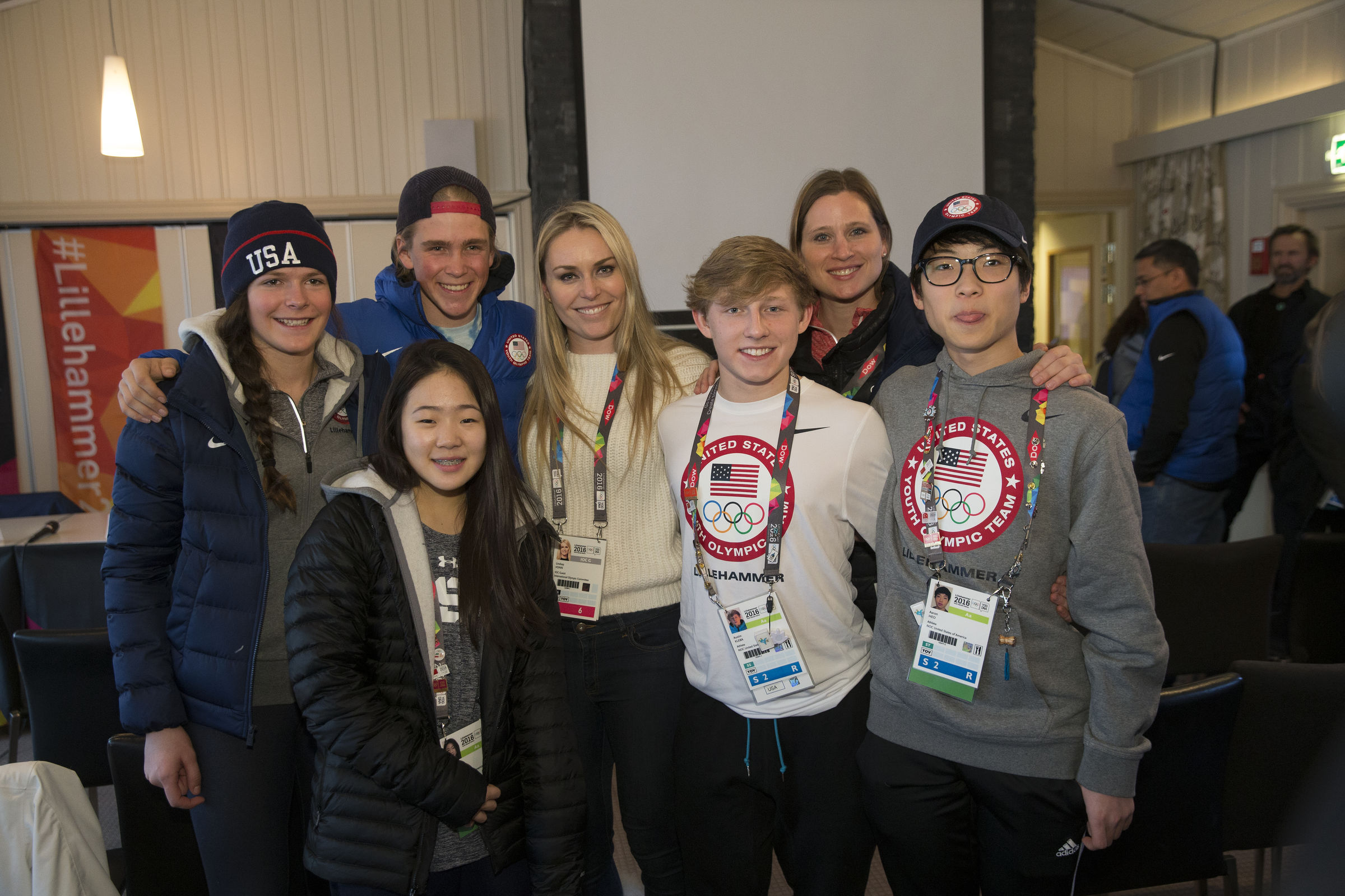 Lindsey Vonn visits Team USA athletes