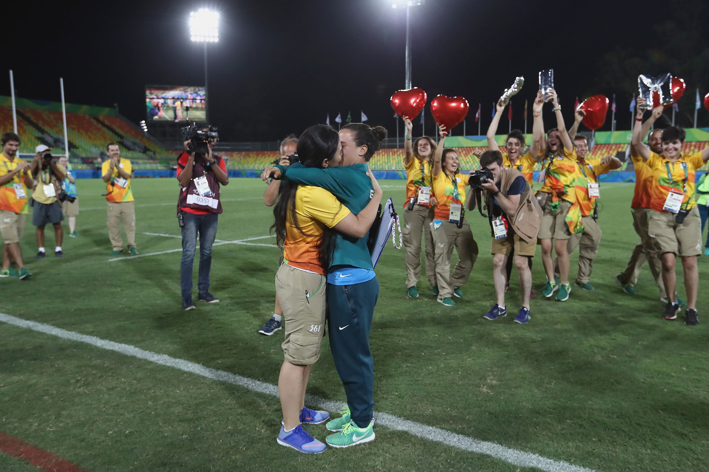 Olympic marriage proposal