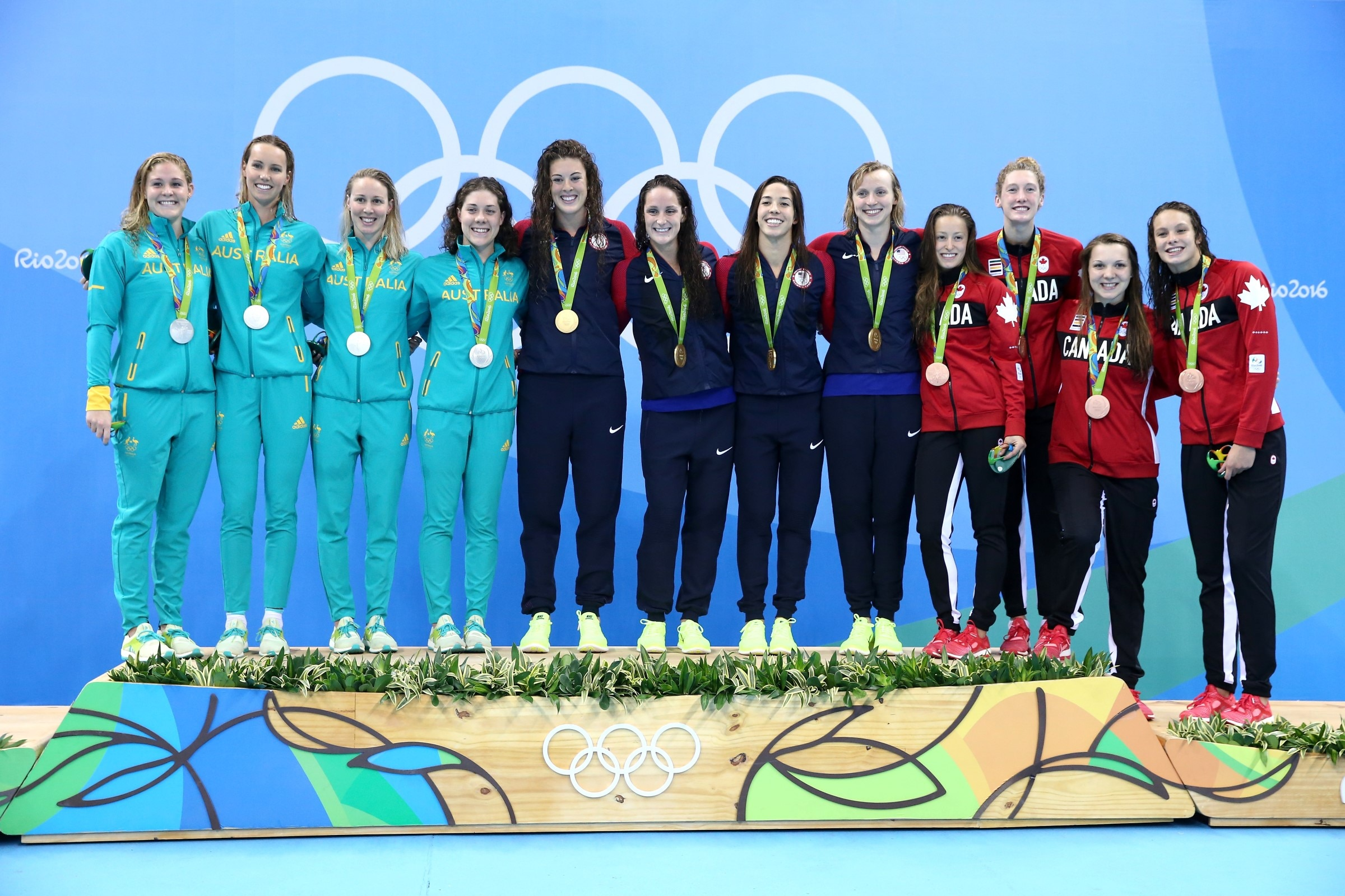 Swimming - Women's 4 x 200m Freestyle Relay