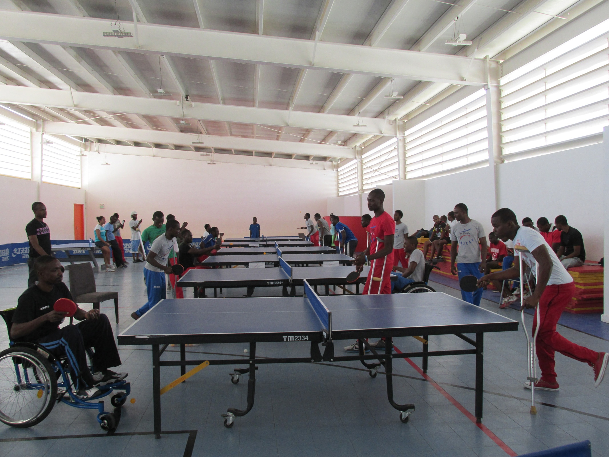 Para Tennis de Table: IOC SPORT FOR HOPE PROGRAMME. PORT-AU-PRINCE (HAITI).
