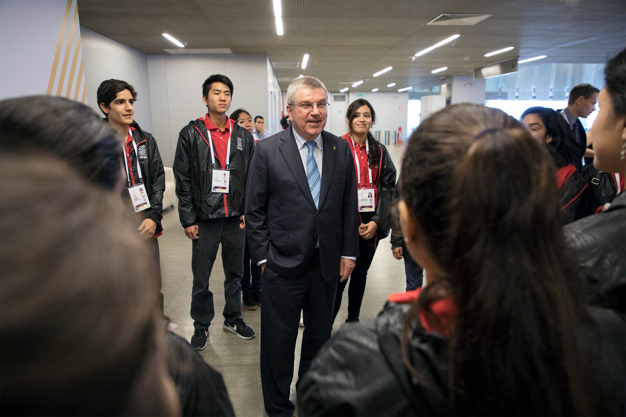 IOC President visits the Lima Convention Centre in Peru