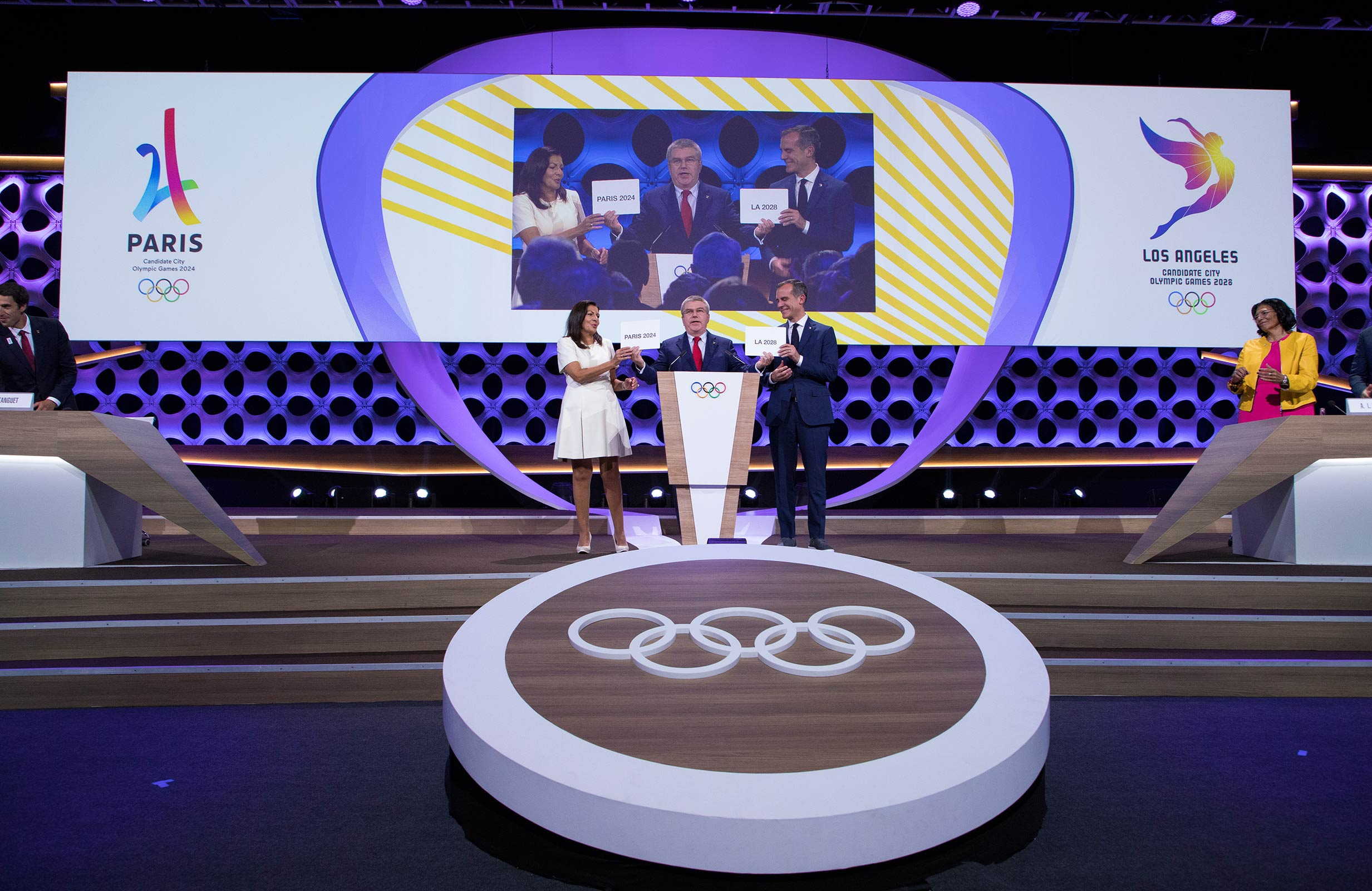 Paris 2024 and LA 2028 celebrate in Lima
