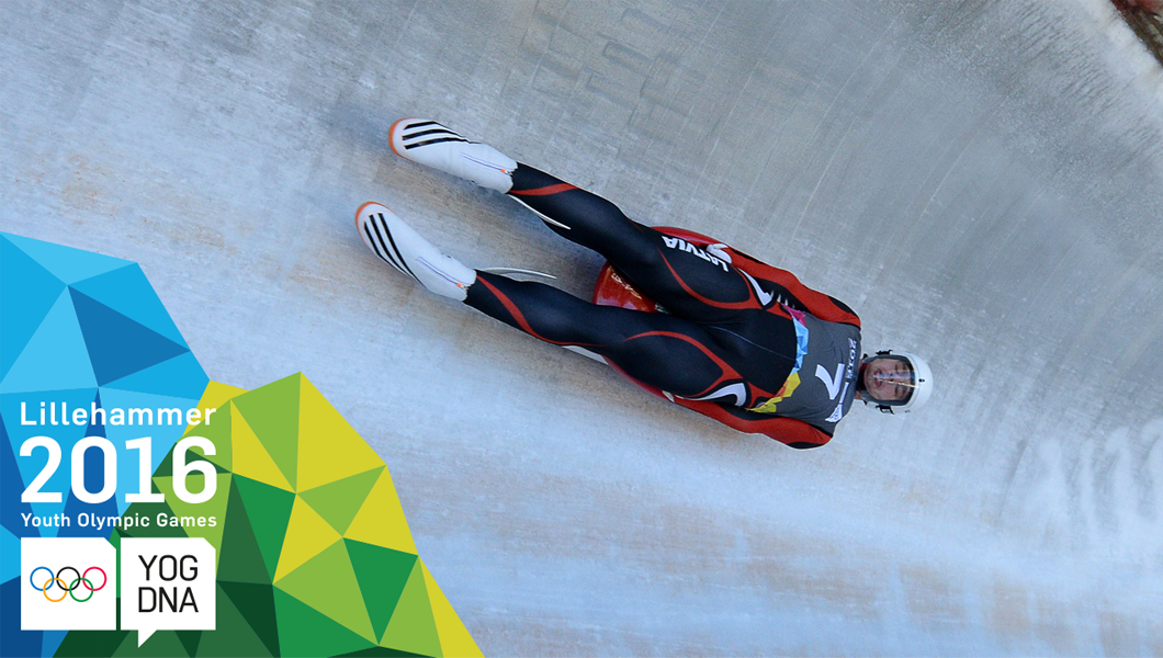 Kristers Aparjods (LAT) wins Men's Luge Singles gold - ​Lillehammer 2016 ​Youth Olympic Games​