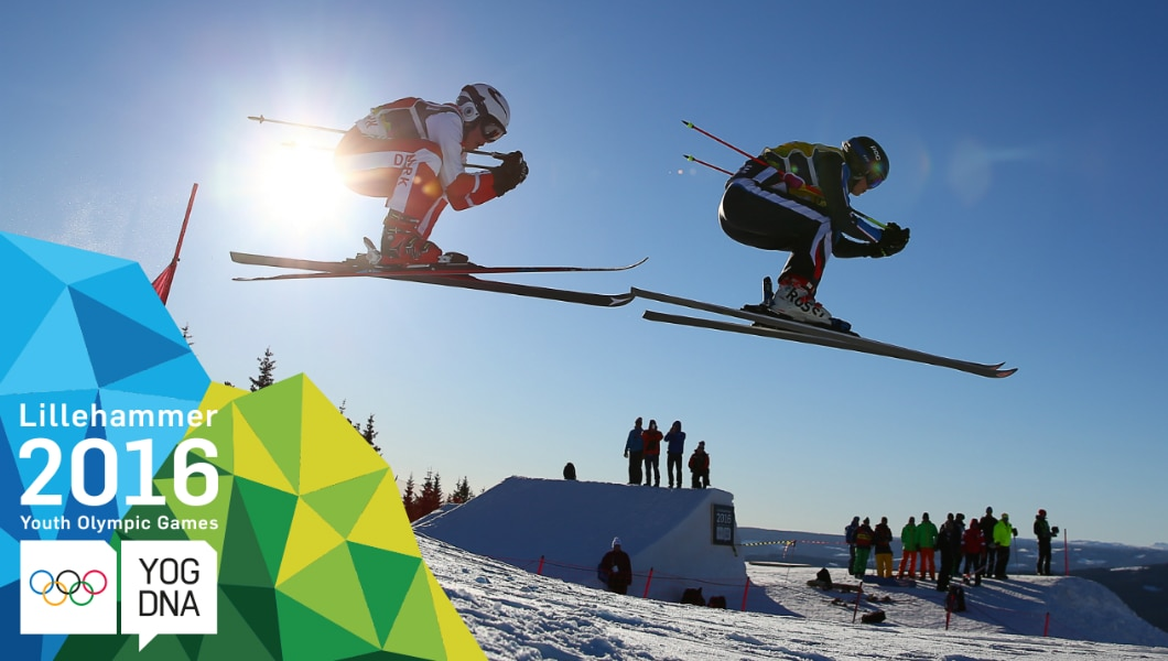 Talina Gantenbein (SUI) médaille d'or au Ski acrobatique - ski cross dames - Lillehammer 2016 Youth Olympic Games