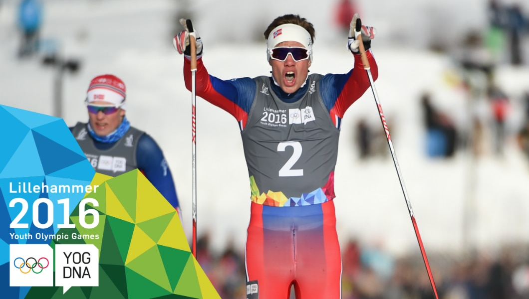 Cross-Country Skiing - Thomas Helland Larsen (NOR) wins Men's  Sprint Gold | Lillehammer 2016 Youth Olympic Games