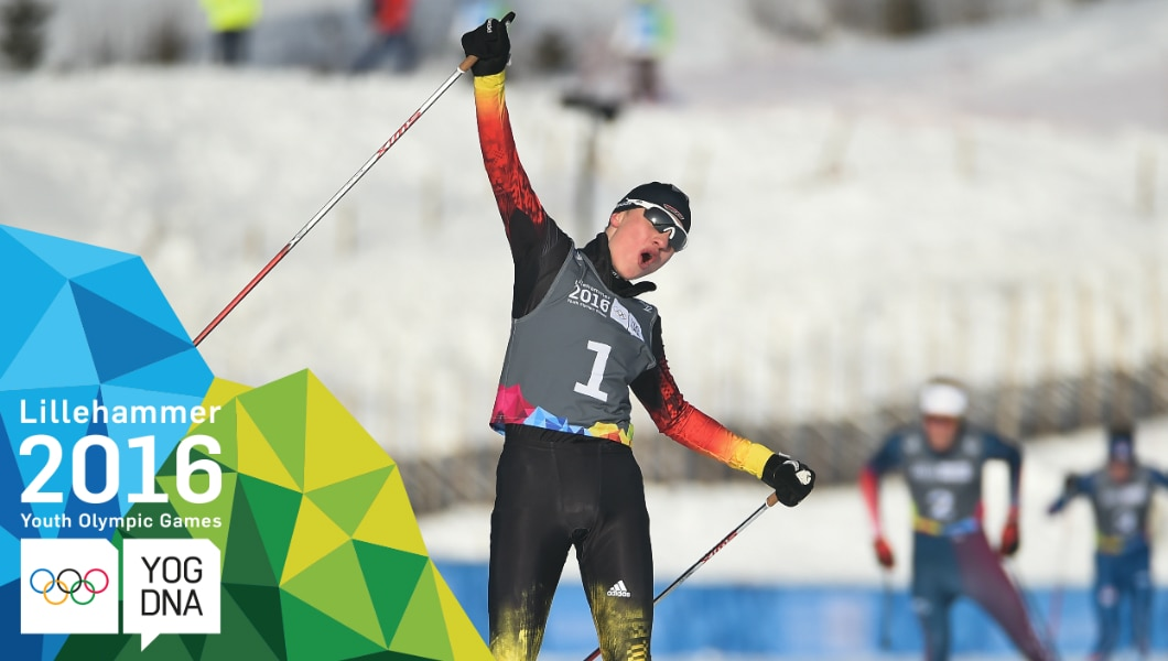 Nordic Combined - Tim Kopp (GER) wins Gold | Lillehammer 2016 Youth Olympic Games