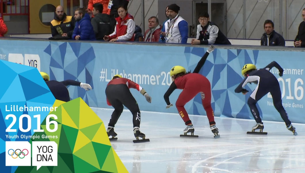 Speed Skating - Yize Zang (CHN) wins Ladies' Short Track 500m Gold | Lillehammer 2016 Youth Olympic Games