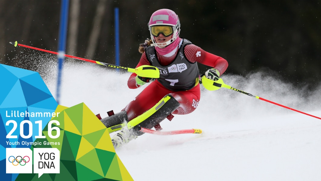 Alpine Skiing - Aline Danioth (SUI) wins Ladies' Slalom Gold | Lillehammer 2016 Youth Olympic Games