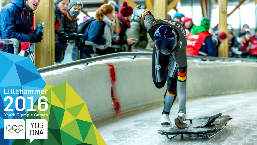 Skeleton - Evgenii Rukosuev wins Men's Individual Gold | Lillehammer 2016 Youth Olympic Games