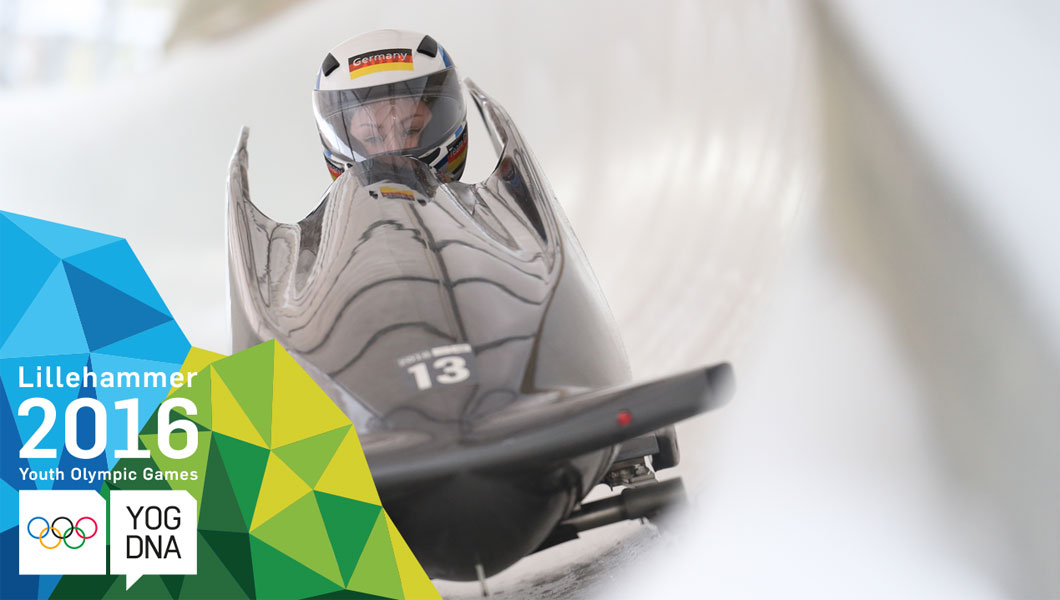 Monobob - Laura Nolte (GER) wins Women's gold | Lillehammer 2016 Youth Olympic Games