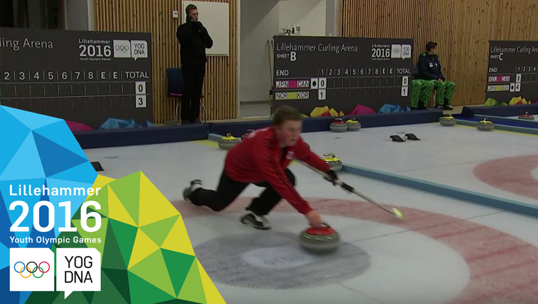 Curling - compétition de double mixte quarts de finale - Lillehammer 2016 Youth Olympic Games