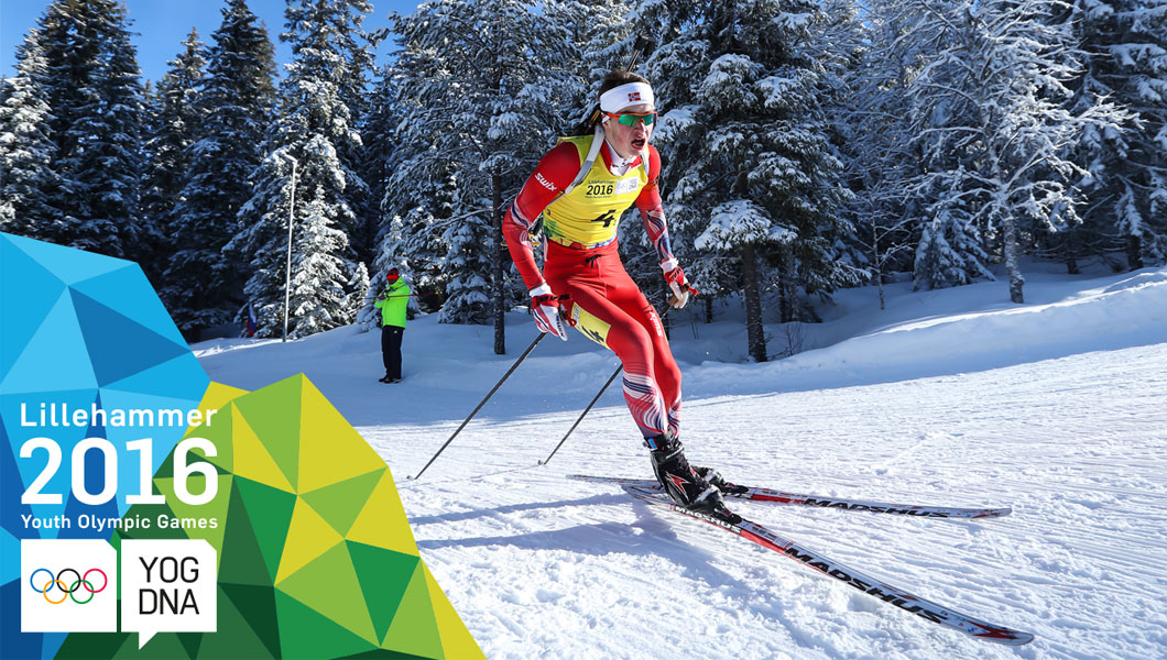 Norvège médaille d'or Biathlon relais mixte - Lillehammer 2016 Youth Olympic Games