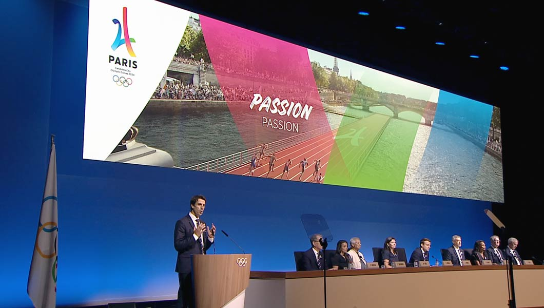 Présentation de la ville candidate Paris 2024 à la session du CIO